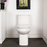 Cali One Piece Toilet Concealed Elongated Plus Height Bowl